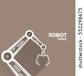 vector robotic arm symbol.... | Shutterstock .eps vector #552298675
