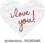 valentine's day word cloud...   Shutterstock .eps vector #552302485