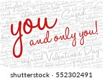valentine's day word cloud... | Shutterstock .eps vector #552302491