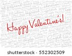 valentine's day word cloud... | Shutterstock .eps vector #552302509