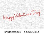 valentine's day word cloud... | Shutterstock .eps vector #552302515