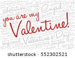 valentine's day word cloud... | Shutterstock .eps vector #552302521