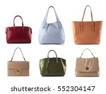 group of color leather women... | Shutterstock . vector #552304147