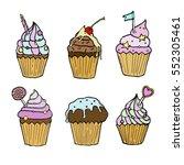 cake  cupcake vector | Shutterstock .eps vector #552305461