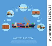 logistics and delivery concept... | Shutterstock .eps vector #552307189