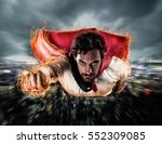 superhero flies faster | Shutterstock . vector #552309085