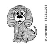 dog anti stress coloring book...   Shutterstock .eps vector #552311095