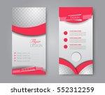 skinny flyer or leaflet design. ... | Shutterstock .eps vector #552312259