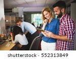 business colleagues having... | Shutterstock . vector #552313849