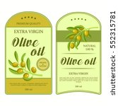 creative stickers for olive oil ... | Shutterstock .eps vector #552315781