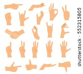 hands in various gestures. flat ...