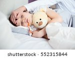 sick little child with... | Shutterstock . vector #552315844