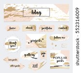 a set of blog design elements... | Shutterstock .eps vector #552316009