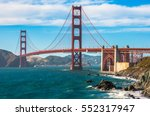 golden gate bridge landmark of... | Shutterstock . vector #552317947