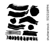 hand drawn ink brush strokes.... | Shutterstock .eps vector #552318994