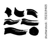 black ink brush strokes. vector ... | Shutterstock .eps vector #552319405