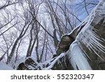 Frozen Waterfall In Winter....