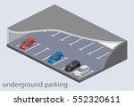 isometric flat 3d concept... | Shutterstock .eps vector #552320611