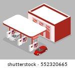 isometric flat 3d concept... | Shutterstock .eps vector #552320665