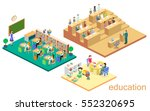 isometric flat 3d isolated... | Shutterstock .eps vector #552320695