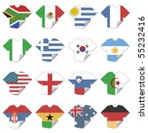 tshirt football team flag icons ... | Shutterstock .eps vector #55232416