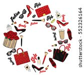 set of stylish women's...   Shutterstock .eps vector #552326164