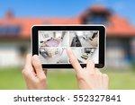 home camera cctv monitoring... | Shutterstock . vector #552327841