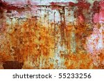 Rusty Weathered Painted Iron...
