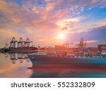 logistics and transportation of ...   Shutterstock . vector #552332809