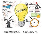 business concept strategy... | Shutterstock .eps vector #552332971