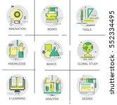 knowledge elearning degree... | Shutterstock .eps vector #552334495