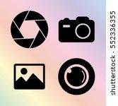 foto camera vector icon set