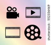 video icon vector set | Shutterstock .eps vector #552336469
