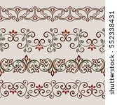 seamless color floral border... | Shutterstock .eps vector #552338431
