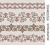 seamless color floral border... | Shutterstock .eps vector #552338431
