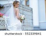 beauty bride in bridal gown... | Shutterstock . vector #552339841