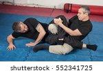 kapap instructor demonstrates... | Shutterstock . vector #552341725