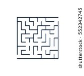 vector easy labyrinth. maze or... | Shutterstock .eps vector #552342745