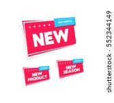 new  new product   new arrival... | Shutterstock .eps vector #552344149