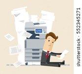 businessman sitting on floor... | Shutterstock .eps vector #552345271