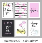 valentines day set cards.... | Shutterstock .eps vector #552350599