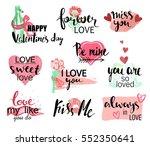 valentines day hand drawn... | Shutterstock .eps vector #552350641