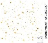 gold star falling print. yellow ...   Shutterstock .eps vector #552352327