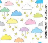 hand drawn sky pattern   Shutterstock .eps vector #552352804