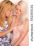 a pair of blonde same sex...   Shutterstock . vector #552353131