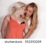 a pair of blonde same sex... | Shutterstock . vector #552353209