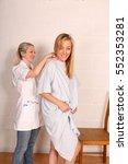 a pair of blond same sex lovers. | Shutterstock . vector #552353281