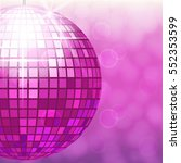 disco ball isolated on gradient ... | Shutterstock .eps vector #552353599