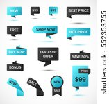 vector stickers  price tag ... | Shutterstock .eps vector #552353755