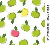 vector pattern of apples in a...   Shutterstock .eps vector #552354565